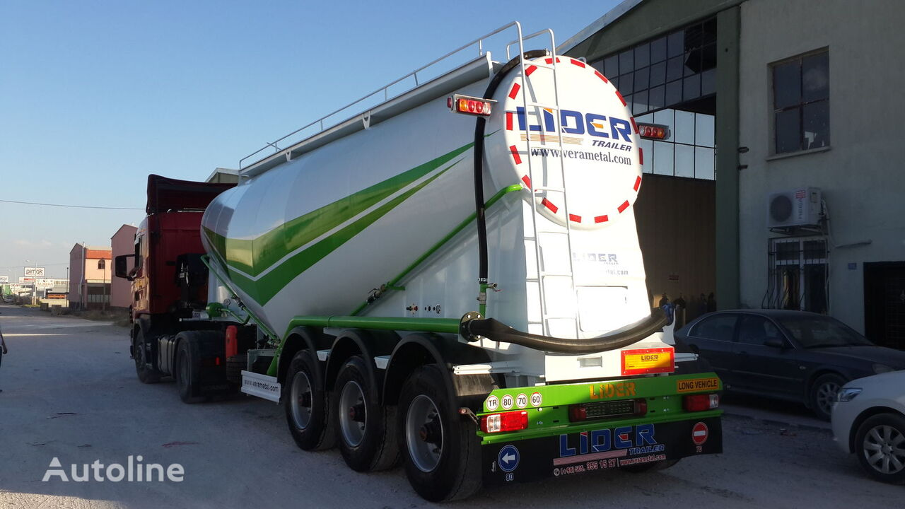 naujas cemento cisterna LIDER 2019 year new from manufacturer company Lider Trailer