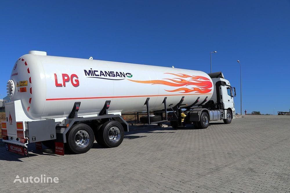 naujas dujų cisterna Micansan LAST 5 UNITS 57 M3 LPG TRANSPORT TANK SEMITRAILER