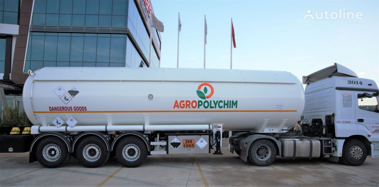 naujas dujų cisterna YILTEKS ADR AMMONIA SEMI TRAILER
