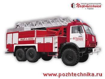 naujas gaisrinės autokopėčios KAMAZ  ACL-4-40/22