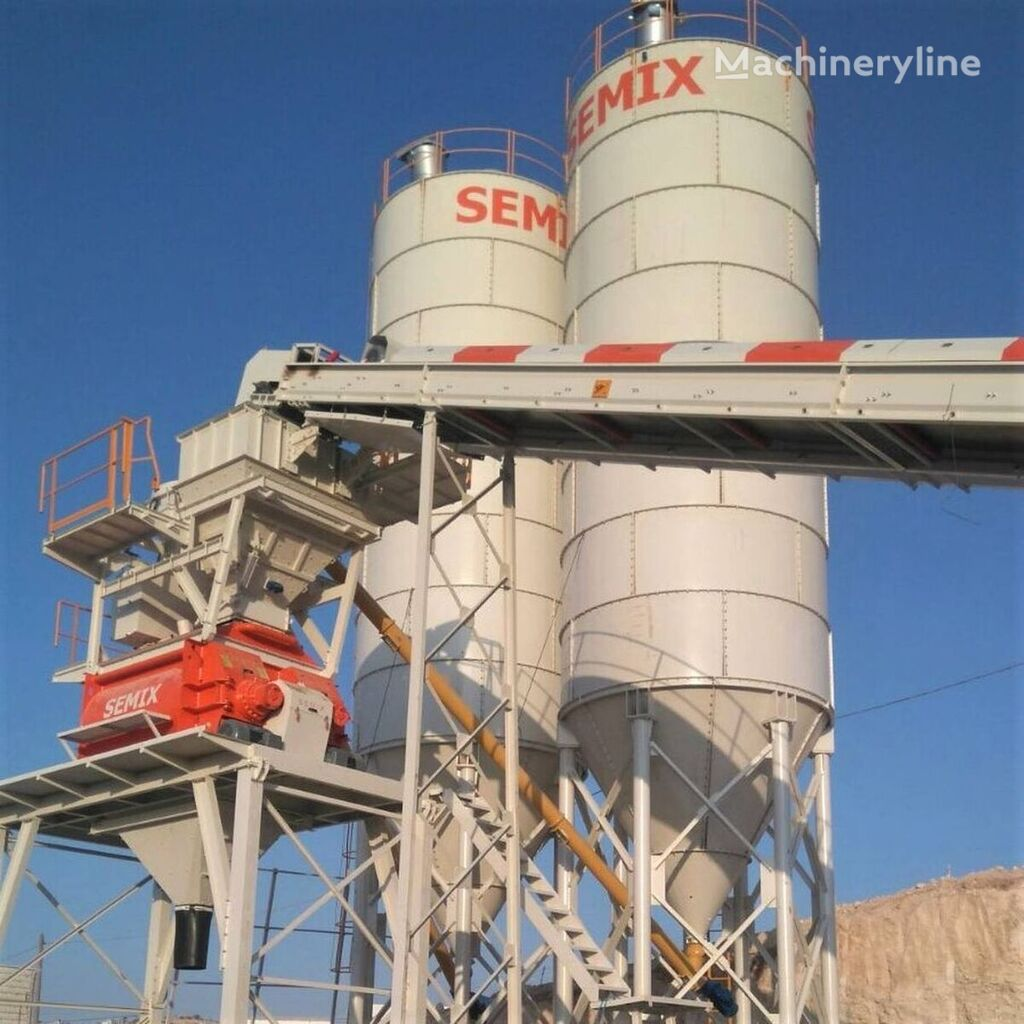 nauja betono gamykla SEMIX Stationary 130 STATIONARY CONCRETE BATCHING PLANTS 130m³/h