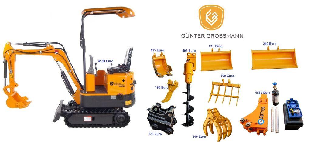 naujas mini ekskavatorius Günter Grossmann  GG800 Minikoparka + Akcesoria - Mini koparka