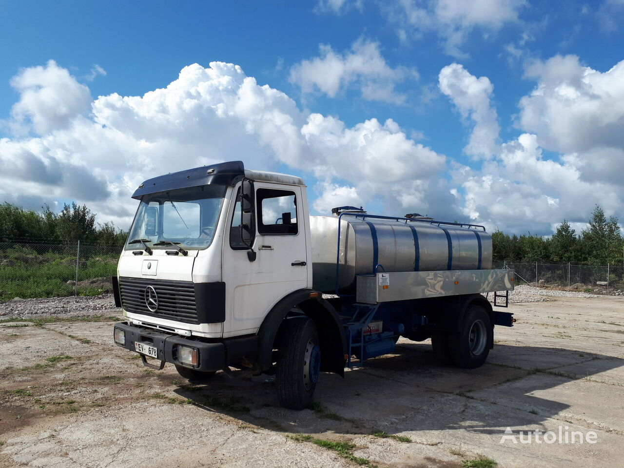 autocisterna sunkvežimis MERCEDES-BENZ 1620 mil/water