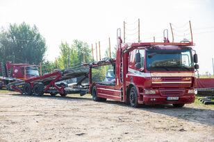 autovežis sunkvežimis DAF Trailer FA CF75 + autovežis priekaba
