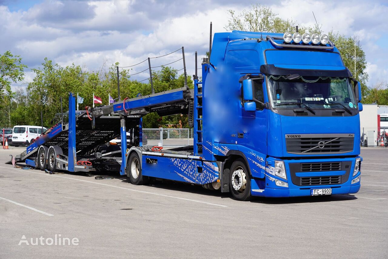 autovežis sunkvežimis VOLVO FH 460 + autovežis priekaba