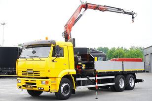 bortinis sunkvežimis KAMAZ 65117 , 6x4 , Crane Fassi 95 , rotator , box 6m