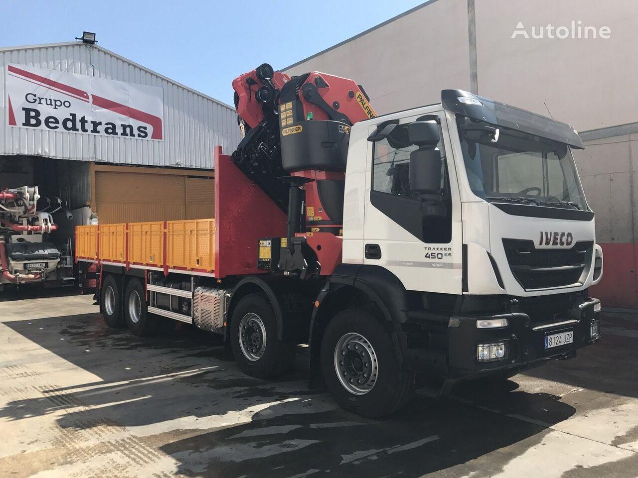 naujas bortinis sunkvežimis IVECO TRAKKER 450 EURO6!!! PALFINGER 78002+JIB NEW!!