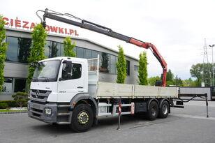 bortinis sunkvežimis MERCEDES-BENZ Axor 2633 , EEV , 6X4 , BOX 7,5m , FASSI 10m / 6.000kg , REMOTE