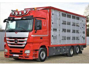 gyvulių pervežimo sunkvežimis MERCEDES-BENZ Actros 2548 6x2 Élőállat-szállító