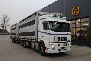 gyvulių pervežimo sunkvežimis VOLVO FH12.480 CHICKEN TRANSPORTER + priekaba gyvuliams vezti