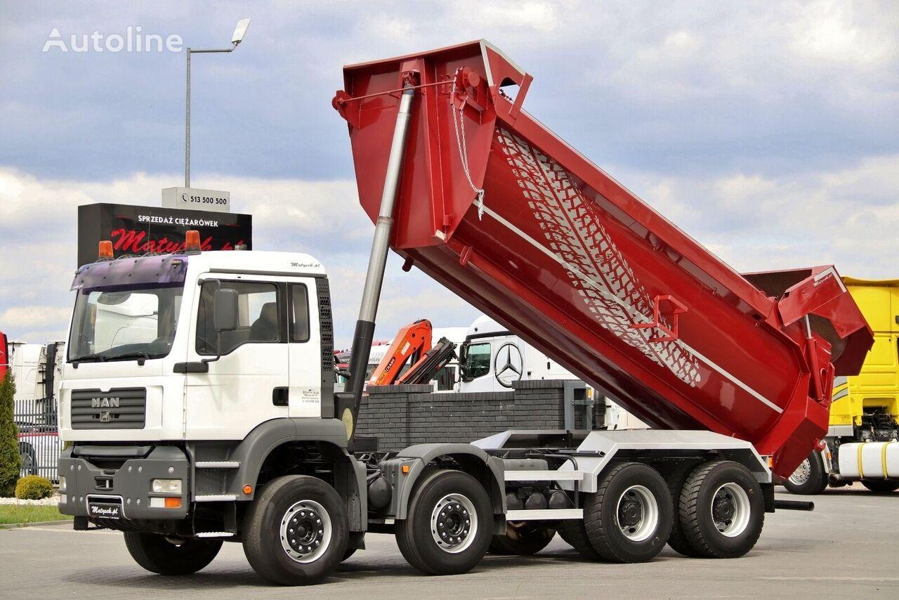 kariuomenės sunkvežimis MAN TGA 32.360 / 8X4 / HYDROFLAP / LOAD: 18 000 KG !!! /