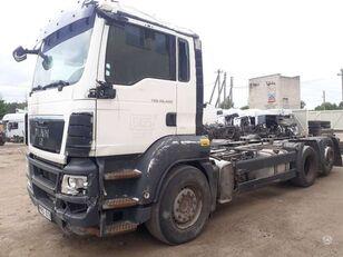 konteinervežis sunkvežimis MAN TGS dalimis