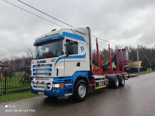 miškovežis sunkvežimis SCANIA R560 6x4 do drewna drzewa lasu HDS