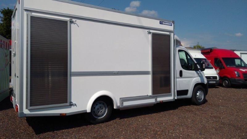 prekybinis sunkvežimis FIAT Samochód do sprzedaży kurczaków, Hähnchenwagen, Imbisswagen + prekybinė priekaba