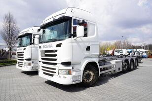 šasi sunkvežimis SCANIA R490 , E6 , 8X2/4 , Tridem , chassis 9m , 2x lift axle , retarde