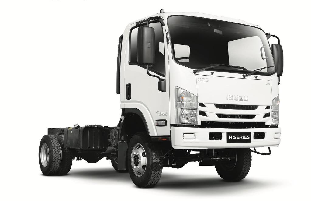 naujas šasi sunkvežimis ISUZU NPS 75L-K