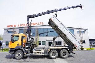 savivartis sunkvežimis RENAULT Kerax 380 , E5 , 6x4 , 120k km , 2way tipper , Cran Hiab , REMOT