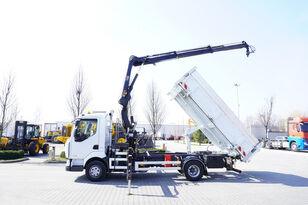 savivartis sunkvežimis RENAULT Midlum 220 , E5 , 70.000km , 2-way tipper , Crane HIAB + REMOTE