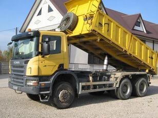 savivartis sunkvežimis SCANIA 6x6 P340 3 SIDED TIPPER