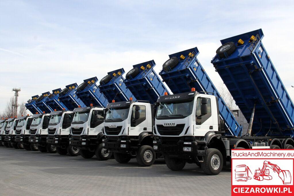 savivartis sunkvežimis IVECO 8x8 / e6 / TRAKKER  / retarder / hydraul. board sides / / ful