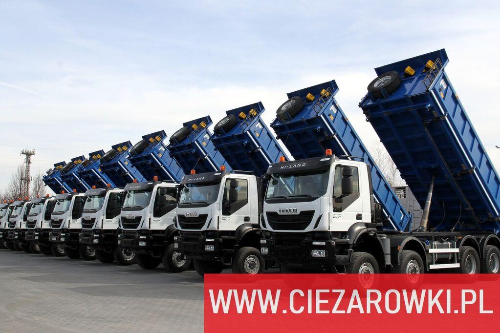 savivartis sunkvežimis IVECO Trakker 450 , E6 , 8x8 , 3-side tipper , retarder 10 UNITS FOR S