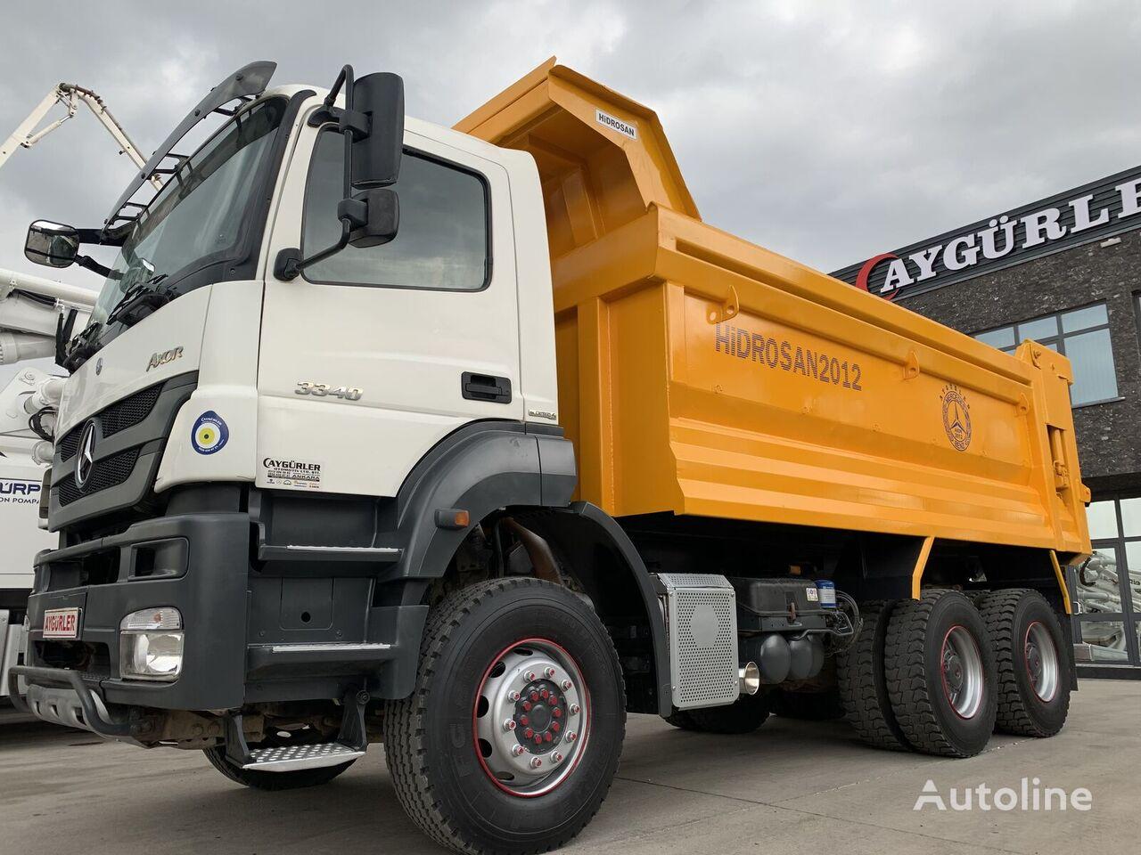savivartis sunkvežimis MERCEDES-BENZ 2012 MODEL 2 ADET  3340 MERCEDES AXOR HARDOX