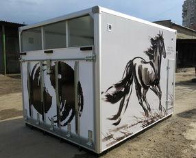 naujas sunkvežimis arkliams vežti ИСТОК