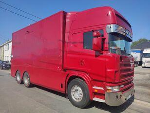 sunkvežimis furgonas SCANIA 144 G  460  V8   6x2  ///MANUEL//RETARDER///FRENCH TRUCK///