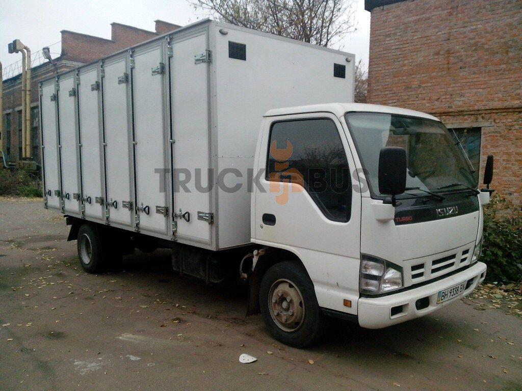 naujas sunkvežimis furgonas ISUZU NPR 75L-K/M hlebnyy furgon