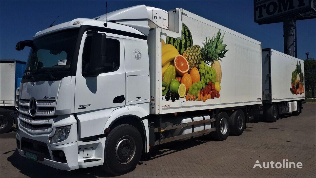 sunkvežimis šaldytuvas MERCEDES-BENZ Actros 2542 + Schmitz  German brief + refrižeratorius priekaba