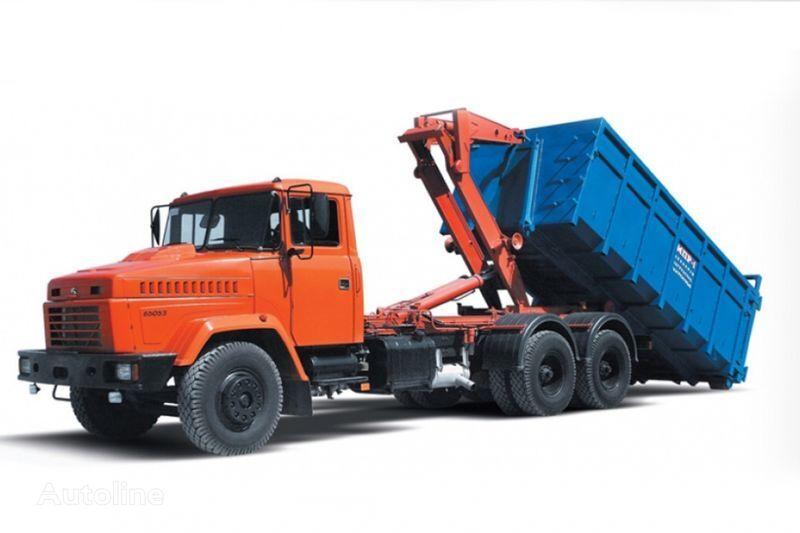 naujas sunkvežimis su keliamuoju kabliu KRAZ 65053 MPR-1