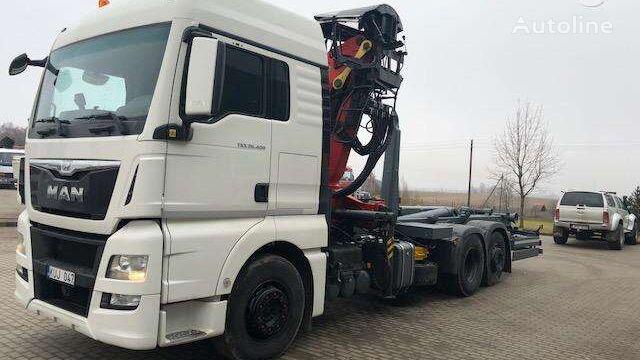 sunkvežimis su keliamuoju kabliu MAN 26.400, hooklift trucks