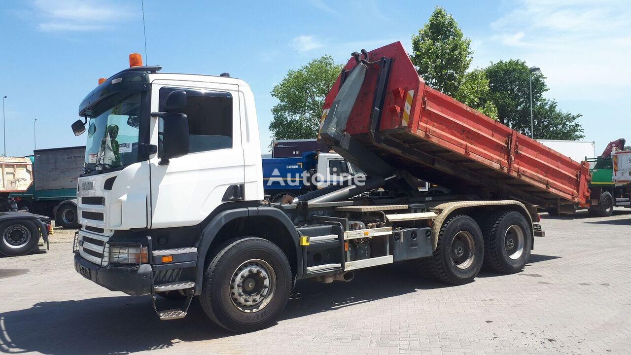 sunkvežimis su keliamuoju kabliu SCANIA P340 6X4 / EU BREIF