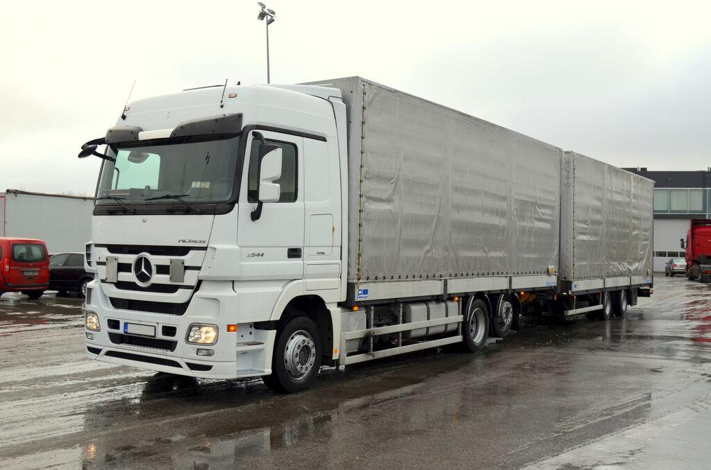 tentinis sunkvežimis MERCEDES-BENZ Actros 2544L E5 + tentinė priekaba