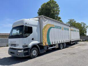 užuolaidinis sunkvežimis RENAULT Premium 420 + užuolaidinė priekaba