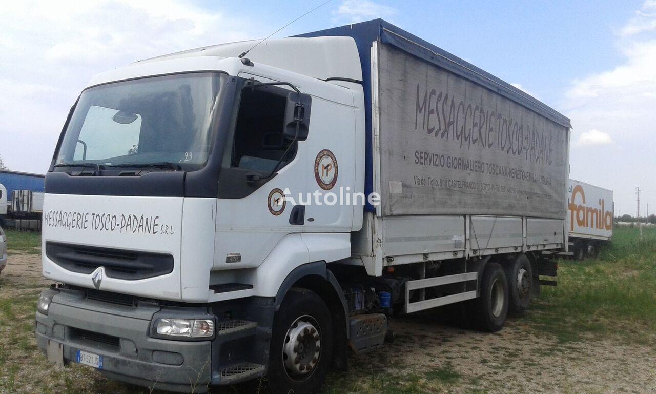 užuolaidinis sunkvežimis RENAULT PREMIUM 420 DCI